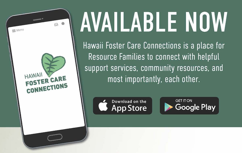 Download Now! The Hawaii Foster Care Connections App